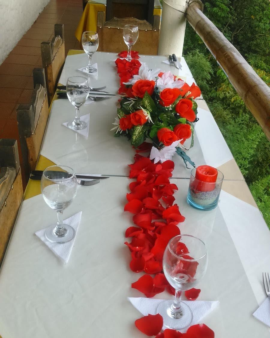 Cumplea os y celebraciones restaurante mirador humadea - Mesa de navidad decorada ...
